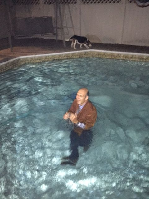 Ron in pool